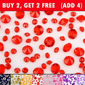 Different Colors Crystal Diamond Confetti Ornament Wedding Venue Decorations DIY