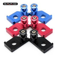 For Yamaha MT-125 YZF R125 Swingarm Spools Slider Chain Adjuster Stand Screw CNC