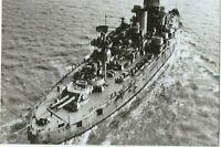 WW II Usa Photo  ----  USS Wyoming Battleship At Sea