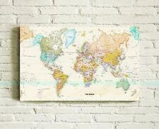 40X70X3cm World Map Stretched Canvas Prints Framed Wall Art Home Office Decor