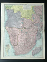 Antique Map Of South Africa Transvaal Cape Of Good Hope Cape Town Angola 1926