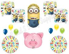 DESPICABLE ME 3 Minions Pigs Happy Birthday Party Balloons Decoration Supplies