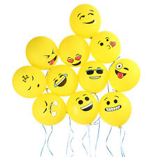 "144X 12"" Emoji Smiley Face Balloons Decoration for Weddings Birthdays Xmas Party"