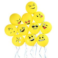 "144X 12"" Emoji Smiley Face Balloons Decoration for Weddings Birthdays Xmas Party"