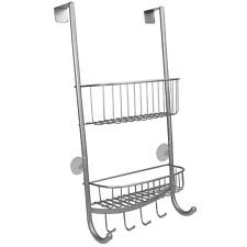 2 Tier Shower Caddy Bathroom Storage Over Door Rack Tier Shower Caddy M&W