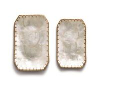 Tozai Home - Woven Laces Capiz Shell Dishes - Set of 2 - Rectangle