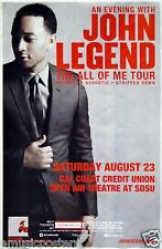 "JOHN LEGEND ""ALL OF ME TOUR"" 2014 SAN DIEGO CONCERT POSTER - R&B Neo Soul Music"