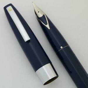 Sheaffer 330 Fountain Pen - Blue, Medium V-Inlay Nib (New Old Stock Boxed)