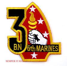 US 3RD BATTALION 6TH MARINES HAT PATCH CAMP LEJEUNE NORTH CAROLINA 2ND MAR DIV