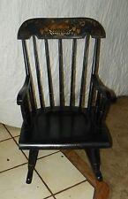 Nichols & Stone Maple Handpainted Child's Rocker / Rocking Chair  (R72)
