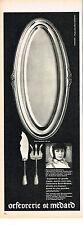 PUBLICITE  1970   ORFEVRERIE ST MADARD  plat à poisson MARIE-CLAUDE BEAUMONT