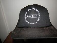 trucker hat baseball cap COMMERCIAL FUSION COAT rare retro snapback FLAT BRIM