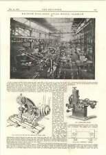 1895 Machine Tool Shop Atlas Works Glasgow Photographs Diagrams
