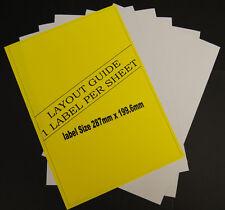 10 Hojas A4 Dirección Etiquetas 1 Por Laser & Inkjet Impresoras 10 Total