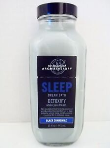Bath Body Works Aromatherapy Black Chamomile Dream Bath, BIG, 15 oz, NEW