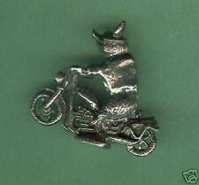 4 wholesale lead free pewter biker hog figurines E5038