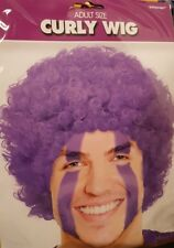 Purple afro Wig Mans - curly - UK seller- free post- made  by Amscan