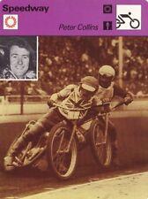 MOTO carte fiche photo PETER COLLINS * speedway