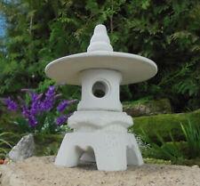 Yikimi klein-R Japanische Steinlaterne Gartenlaterne Frost u.Wetterfest Steinguß
