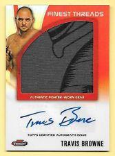 2012 Topps UFC Finest Threads #TB Travis Browne Jumbo Worn Gear Relic Autograph