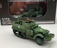 Brand New 1:72 U.S. Army M3 Halftrack Armored Vehicle Metal + Plastic Model