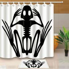 Creative Art Skull Waterproof Polyester Fabric Shower Curtain Set