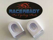 2 Race Ready.. White..Bike Crank Arm Boots..MTB..Cycling.. fits SRAM / Shimano