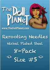 Size #5 8-Pack Steel Cut Needles for Rooting Doll & My Little Pony Barbie Tool