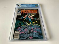 WOLVERINE 1 CGC 7.5 WHITE PAGES NEWSSTAND NEWS STAND EDITION MARVEL COMICS 1988