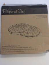 Pampered Chef Microwave Chip Maker (set Of 2 racks) New