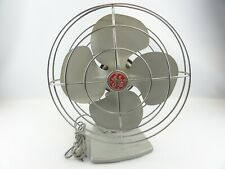 General Electric GE Oscillating Fan Antique 1959-1963 Gray Desk Wall #F11S107