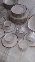 44 Pieces Vintage Rare Find American Atelier Royal Gold #7036-45 Dinnerware Set