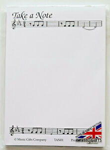 Take a Note A6 Notepad (Music-Themed)