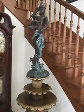 Maitland Smith Bronse Statue Of Neptune on Marble Base