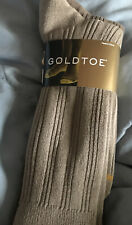 Gold Toe Men'S 3-Pair Pack Tan Rib Casual Crew Socks Shoe 6-12–NWT