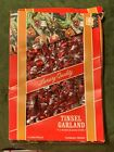 1 Vintage Package of Red and Silver Christmas Tree Tinsel Garland - 15 Feet