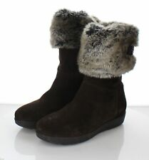 Z10 $495 Women's Sz 7 M Aquatalia Walda Faux Fur Trimmed Waterproof Boot