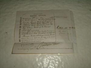 Bank Of Ireland Stock Certificate 1894 Brokers Ticket   £761.12.7