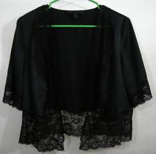 Lace Silk Black Shrug Cardigan Formal Wedding Woman's M Funeral Express Design