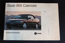 Instructieboekje Saab 900 Cabriolet 1995 (Dutch) (NA)
