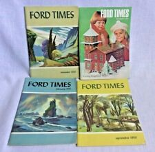 4 Ford Times Magazines 1950-51 and 1979 Old Car Photos Mid Century Pics Vintage