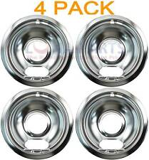 "4 Pack Stanco Universal Stove Range 6"" Chrome Bowl 5010-6 221-6 5075-6 771-6"