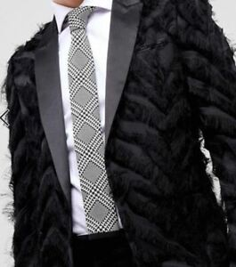 NEW! Noose & Monkey knitted tie in prince of wales check