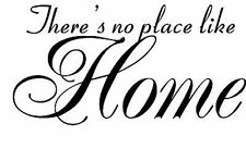 There's no place like Home Vinyl Decal Home Wall Decor