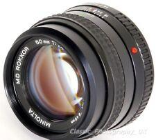 Minolta MD ROKKOR 50mm 1:1.4 FAST Lens for Minolta 35mm Film SLR & DIGITAL DSLR
