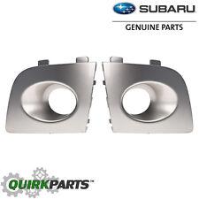 06-07 Subaru Impreza Front LEFT & RIGHT Bumper Fog Light Bezel Set 48W OEM NEW