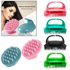 Silicone Shampoo Scalp Shower Body Washing Head Hair Massage Massager Brush Comb