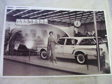 1961 PLYMOUTH VALIANT STATION WAGON AT AUTO SHOW   11 X 17  PHOTO  PICTURE
