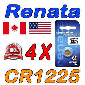 4 X RENATA CR1225 Lithium Watch Battery, 1225, 3V Swiss Made. Exp. 2024