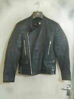 VINTAGE 80's Distressed Leather PERFECTO Motorcycle Jacket Size XS Biker Punk